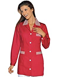 Isacco-túnica médica Marbella, Color Rojo a Rayas, Color Rojo
