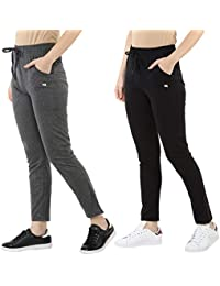 Modeve ® Women's Cotton Track Pants Combo Pack of 2