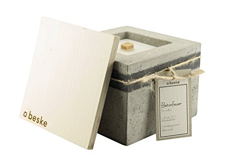original-beske-concretefire-with-permanent-wick-size-17x17x13-refillable-garden-torch-in-timeless-pu