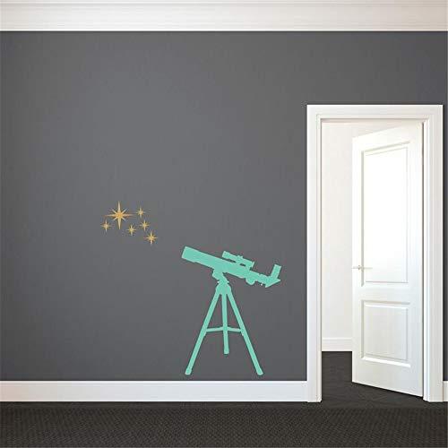 Pegatinas pared infantiles Telescopio estrellas