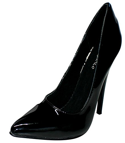 EROGANCE Lack High Heels Pumps schwarz EU 37 - 46 / A2924 Black