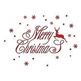 Elecenty Natale Vetrofanie Rimovibile Adesivi Adesivi Vetro Finestra Natale Vetrofanie Rimovibili Wallpaper elk