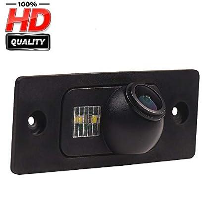 HD-1280x720p-Farbkamera-Wasserdicht-Rckfahrkamera-kennzeichenbeleuchtung-Kamera-KFZ-Rckfahrsystem-mit-Einparkhilfe-Nachtsicht-fr-Porsche-Cayenne-2002-2010
