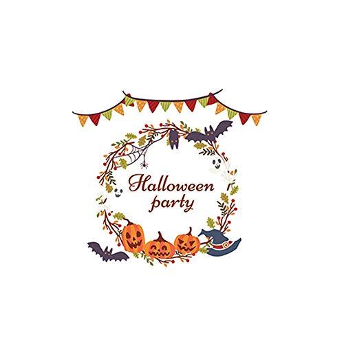 OIKAY Wandaufkleber Halloween Statische Elektrizität Wandaufkleber Fenster Dekoration Aufkleber Dekor hausgarten küche zubehör dekorative aufkleber wandbilder (Vintage Disney Halloween-filme)