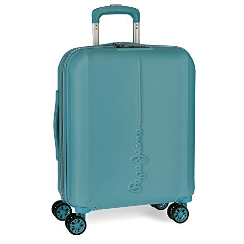 Pepe Jeans Glasgow Blue Rigid Cabin Trolley