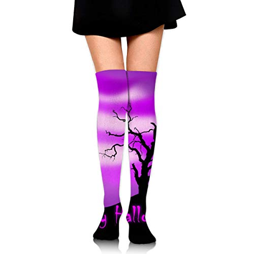 lack Cat Happy Silhouette Ankle Stockings Over The Knee Sexy Womens Sports Athletic Soccer Socks ()