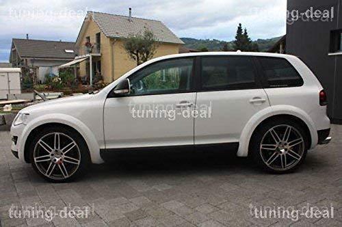 schwarz Gummimatten VW Touareg 7P ab 2010 Fussmatten Gummi Original Qualit/ät R-Line TDI V8 Auto Allwetter 4X VW Befestigungen Druckknopf rund 4-TLG NEU