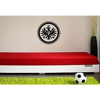 Wandtattoo – Eintracht Frankfurt Logo schwarz, 38 cm Durchmesser
