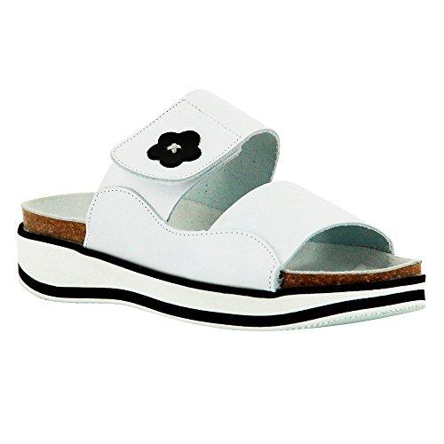 Chaussure de travail pour infirmière et professions médicales Blanc Semelle Noir