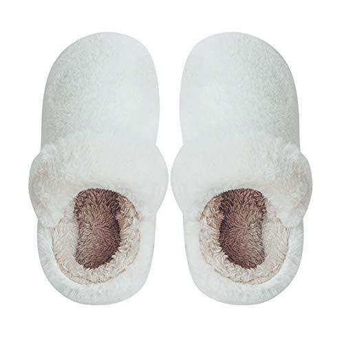Pantofole invernali calde ciabatte casa pattini per donna e uomo lovers pantofola imbottitura calda tessuto di peluche flanella antiscivolo muto scarpe al coperto regalo di natale compleanno