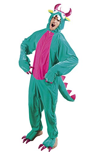 erdbeer-clown - Herren Motto-Party Karneval Kostüm Plüsch Monster Set, Onesie, Komplett-Jumpsuit , One Size, (Kostüme Sexy Girl Monster)