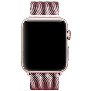 Für Apple Watch Armband 38mm, VIKATech Milanese Schlaufe Edelstahl Smart Watch Armbänder mit einzigartiger Magnetverriegelung ohne Schnalle für Apple Watch Armband 38mm Series 1 / 2, Sport, Edition, Nike+, Rose Gold