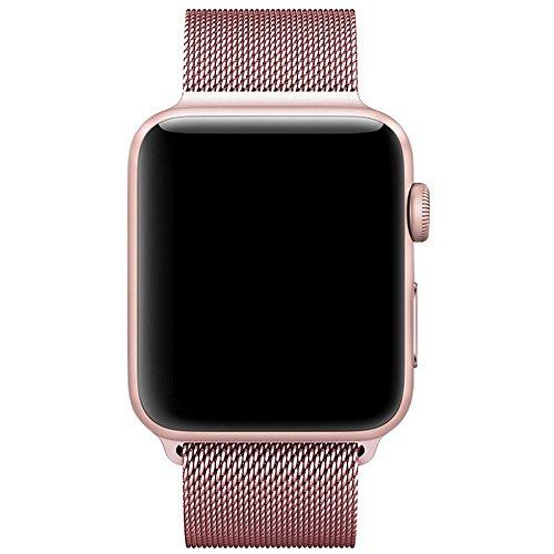Für Apple Watch Armband 38mm, VIKATech Milanese Schlaufe Edelstahl Smart Watch Armbänder mit einzigartiger Magnetverriegelung ohne Schnalle für Apple Watch Armband 38mm Series 1 / 2 / 3, Sport, Edition, Nike+, Rose Gold