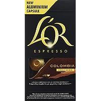L'Or Café Espresso Colombia   5 Paquetes x 10 cápsulas - Total: 50 cápsulas