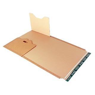 progressPACK Universal-Versandverpackung Premium PP B02.18 aus Wellpappe, DIN A3, 455 x 325 x bis 80 mm, 20-er Pack, braun