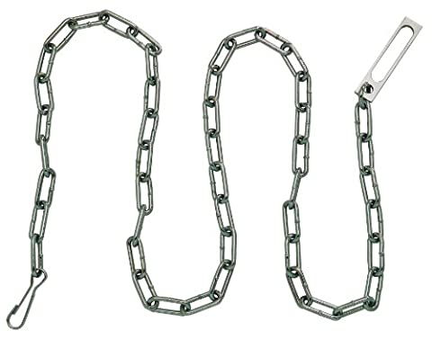 Peerless Handcuff Company Security Plated Chain with Oversize Pass-Through Link and Heavy Duty Snap at Either End (60-Inch) by Peerless Handcuff Company