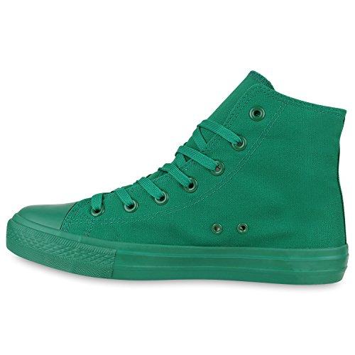 Herren Schuhe Sneakers | Sneaker High Denim | Turnschuhe Camouflage | Stoffschuhe Schnürer Grün All
