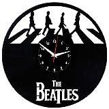 EVEVO The Beatles Wanduhr Vinyl Schallplatte Retro-Uhr groß Uhren Style Raum Home Dekorationen Tolles Geschenk Wanduhr The Beatles