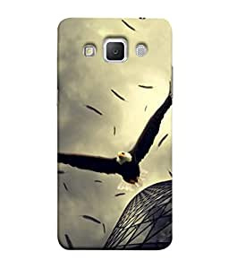 PrintVisa Designer Back Case Cover for Samsung Galaxy Grand Max G720 (Eagle Vulture Fly Blocks Building )