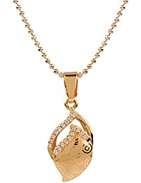 Ananth Jewels Heart Shaped Rose Gold Plated Pendant Necklace For Women - B073T452Q7