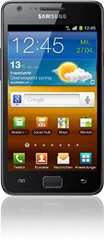 Samsung Galaxy S II i9100 DualCore Smartphone (10.9 cm (4.3 Zoll) Super-Amoled Plus Display, Android 4.0 oder höher, 8 MP Full-HD Kamera, 2 MP Frontkamera) noble-black