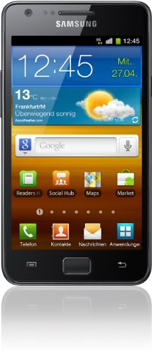 Samsung Galaxy S II i9100 DualCore Smartphone (10.9 cm (4.3 Zoll) Super-Amoled Plus Display, Android 4.0 oder höher, 8 MP Full-HD Kamera, 2 MP Frontkamera) noble-black (Handy Galaxy Ii Samsung)