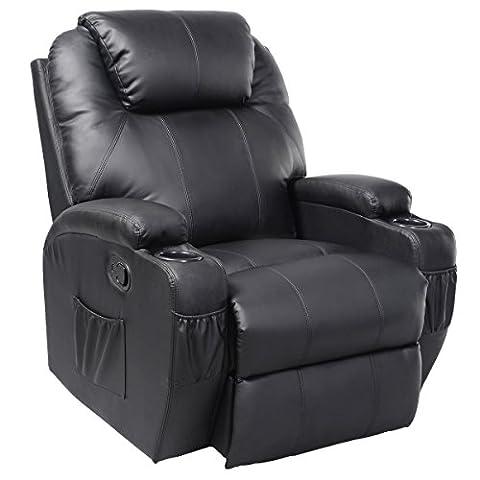 FDS Leather Massage Recliner Sofa Chair Swivel Heated Cinema Nursing