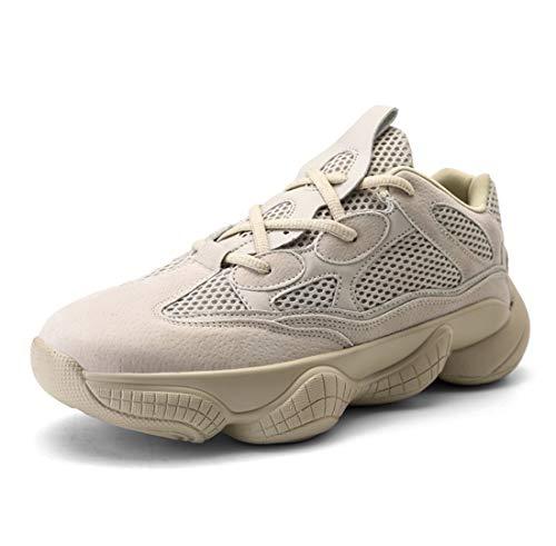 kosnuss Daddy Schuhe Atmungsaktive Mesh Man Anti-Skid Outdoor-Sneakers,Beige,41 ()