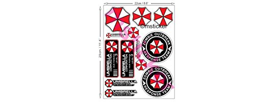 1-Set-mit-13-Umbrella-Corporation-Aufkleber-Sticker-Autocollant-Resident-Evil-Zombie-plus-TOPHEADS-Eyewear-Sticker-Auto-Motorrad-Bike-ATV-Sponsor-Rally-Racing-Motocross-Logo-Hot-Rod-Notebook-Laptop-He