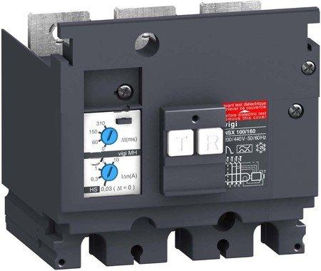Schneider LV429210 Differenzstromblock Compact Vigi MH, 30-10000mA- 200-440 V, 3p Mh Compact