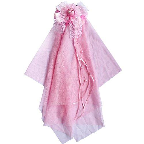 iEFiEL-Fiore Copricapo Capelli Hoop velo da sposa o damigella d' onore partito matrimonio accessori Comb Pink Taglia unica