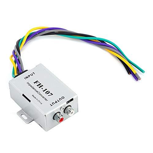 Qiilu Car Audio Converter, Auto-Stereo-Lautsprecher Horn-Audio-Verstärker Hoch-Niederfrequenz-Wandler Niederfrequenz-wandler