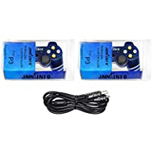 Jain Info Branded New Pack Of Two PS3 Wireless Controller Joystick For PS3 Console (Transparent Blue Color)
