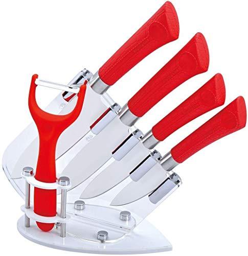 Set de couteaux luxes en céramique 6 pièces dans le bloc de couteau