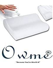 The Brand -Owme Orthopedic Memory Foam Pillow Standard Size Specialty Medical Neck & Back Support Sleeping Bed Pillow