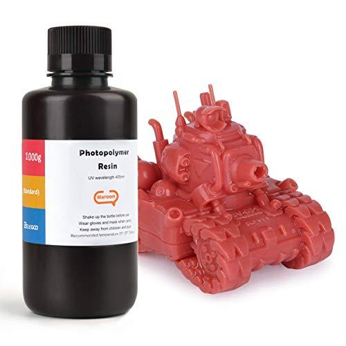 ELEGOO LCD UV 405nm 3D Resina Rápida para LCD Impresora 3D 1000g Fotopolímero Resina Granate