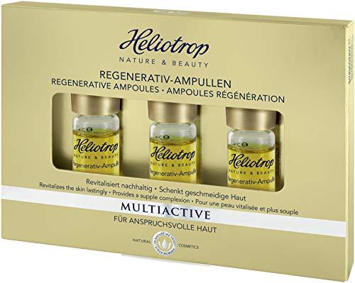 HELIOTROP Naturkosmetik MULTIACTIVE Regenerativ-Ampulle, Versorgt die Haut, Hochkonzentrierter Wirkstoffkomplex mit wertvollen Vitaminen, Vegan, 7,5ml