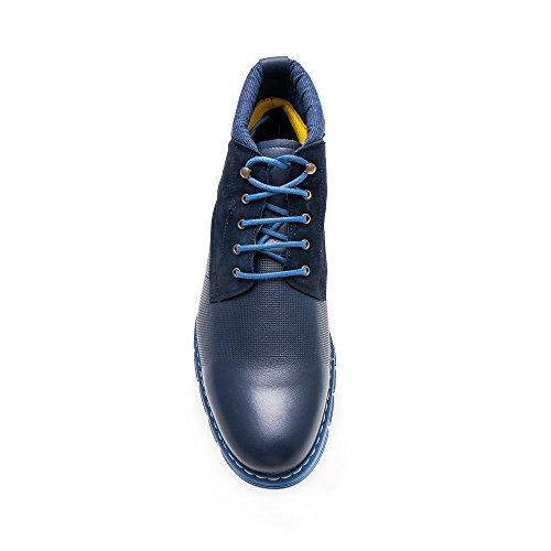 La De Recubren Que Diseño Hombres Zerimar La Azul De De Marino Moda Color De Piel Botas Cuero wq0gcv
