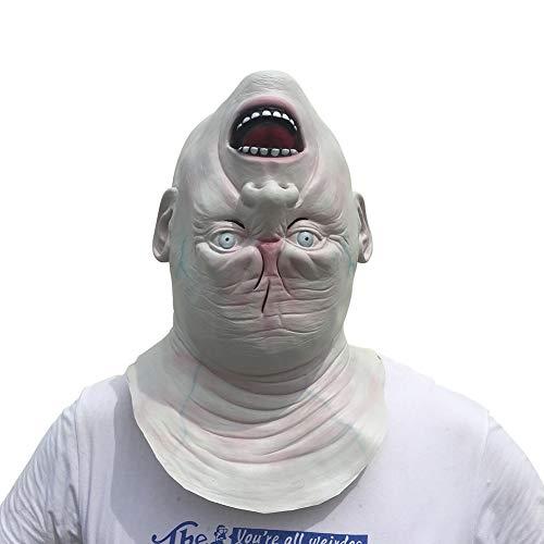 Einfache Kostüm Beängstigend - WEISY Kopf Kopf Maske, Neuheit Halloween Kostüm Party Latex Tierkopf Maske für Erwachsene und Kinder