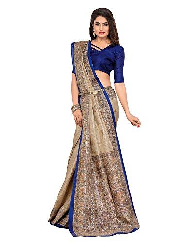 Saree Mall Women\'s Art Silk Saree With Blouse Piece (Latest Design 7Mdb8773D_Beige)
