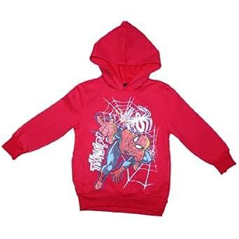 Spiderman Jungen Warm Pullover Hoodie Sweatshirt Medium Rot