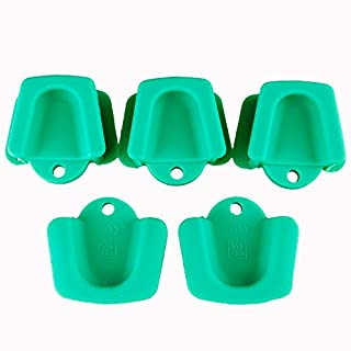 Airgoesin 5pcs Silicone Mouth Prop, Dental Oral Silicone Bite Blocks Opener 135 Degree Centigrade Autoclavable Child Adult Size (Large)
