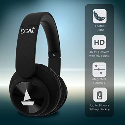 boAt Rockerz 450 Wireless Bluetooth Headphone (Luscious Black) Image 2