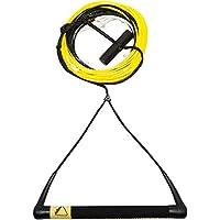 Follow 2018 - Paquete de barra en T profesional (negro/amarillo), cuerda de wakeboard y mango combo