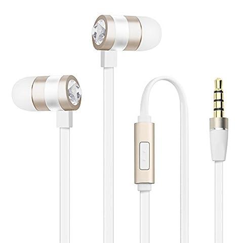 Earphones Headphones, LUXEAR Premium Replaceable Earbuds Headsets, Hands-Free Calling, Magic
