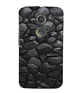 PrintVisa Charcoal Stone Pattern 3D Hard Polycarbonate Designer Back Case Cover for Motorola Moto X2