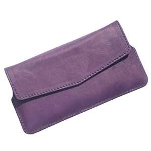 i-KitPit : PU Leather Flip Pouch Case Cover For Lava 450 Colour+ (PURPLE)