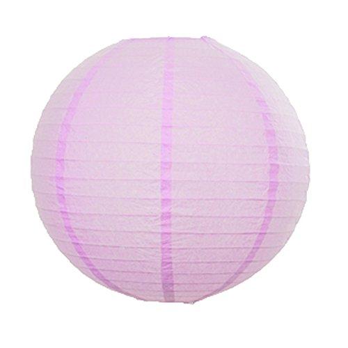 yiwa Cumpleaños Boda Fiesta Decoración Rosa (Juego de 2) 20pulgadas/50cm Diámetro de linternas de papel redondas lámpara