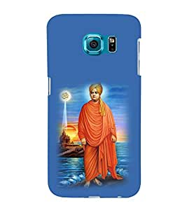 printtech Swami Vivekanand Om Back Case Cover for Samsung Galaxy S6::Samsung Galaxy S6 G920