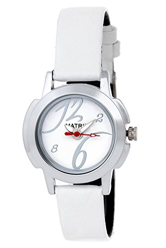 Matrix Analog Small White Dial Women's Watch-WCH-WH-SM-WN  available at amazon for Rs.179